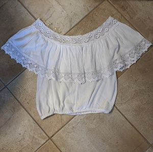 Pacsun - Boho Off the Shoulder Crop Top - NWT